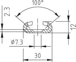 Stahlschiene, Länge 1,445m